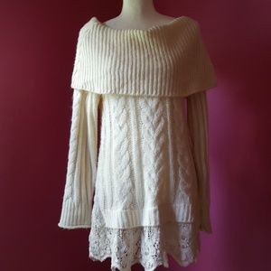 Knox Rose Cowl Neck/Off the Shoulder Sweater